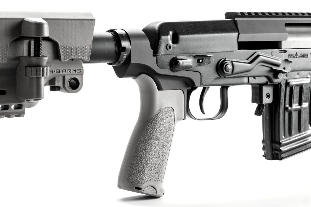 SVD pistol grip and buffer tube adapter by SAG